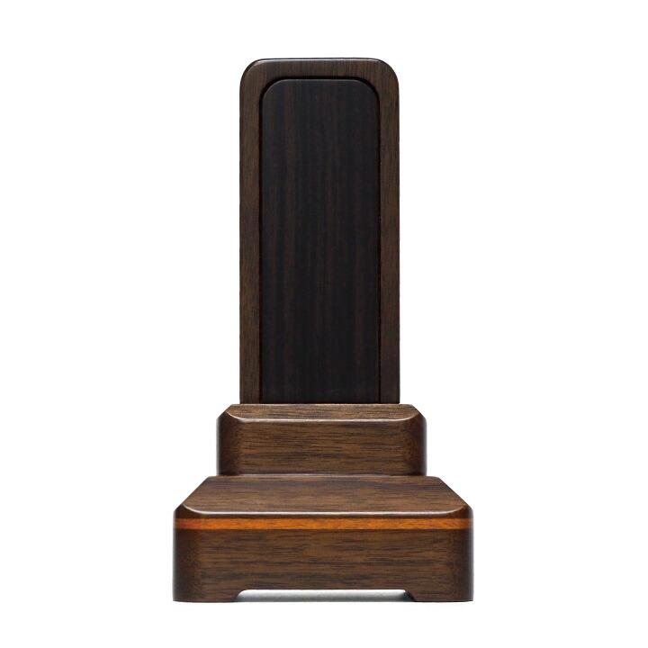 黒檀、紫檀、屋久杉の3種の高級木材とウォールナット(くるみ材)を使用した美しいお位牌「常葉」
