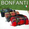 イタリア製・bonfanti(ボンファンティ)コラボ 持ち運びできる TWEEDMILL ツイードミル ブランケット