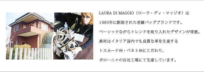 LAURA DI MAGGIO(ローラ・ディ・マッジオ)/牛革 レザー ハンドバッグ ショルダーバッグ タッセルフリンジ付