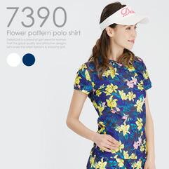 花柄ポロシャツ