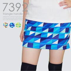 トライアングル柄スカート
