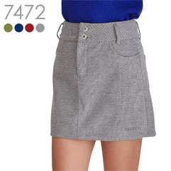 後ろ刺繍入り台形スカート