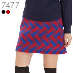 暖か起毛柄スカート