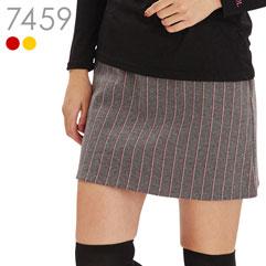 ストライプ柄台形スカート
