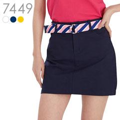 ベルト付ストレッチ台形スカート