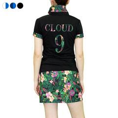 花柄ポロシャツ&スカートセット