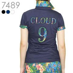 CLOUD 9 花柄ポロシャツ