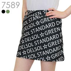総ロゴプリント台形スカート