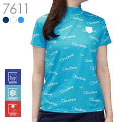 ロゴプリントストレッチクールハイネックシャツ