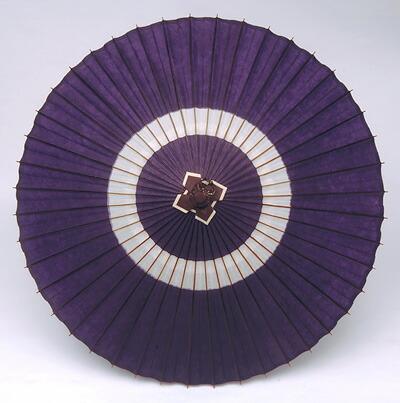 蛇の目傘「中入」(紫白)