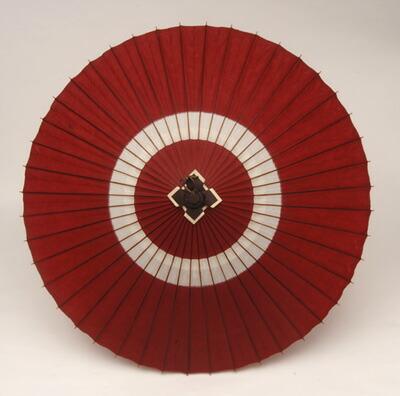 蛇の目傘「中入」(赤白)