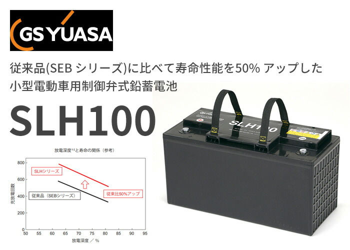GSユアサ SLHシリーズ 小型電動車用制御弁式鉛蓄電池 12V100Ah SLH100