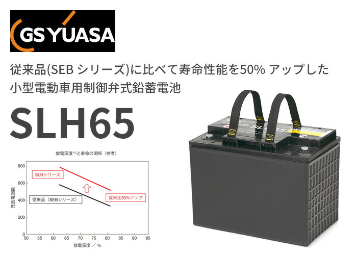 GSユアサ SLHシリーズ 小型電動車用制御弁式鉛蓄電池 12V65Ah SLH65