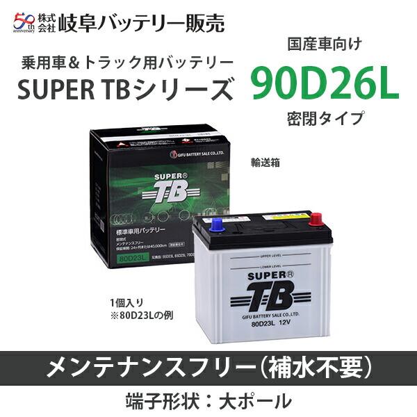 岐阜バッテリー 乗用車&トラック用バッテリー SUPER TBシリーズ