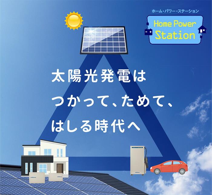 ニチコン 太陽光発電+電気自動車+蓄電池=トライブリッド蓄電システム トライブリッド(PCS+4kwh)+V2H ESS-T2S1V