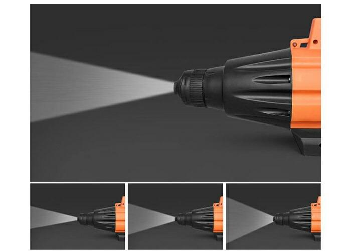 ポータブル消毒噴霧器 (バッテリー付)【オレンジ】屋内と屋外の両方で使用OK!自動噴射機 電動噴霧器 ANELESPRAYO