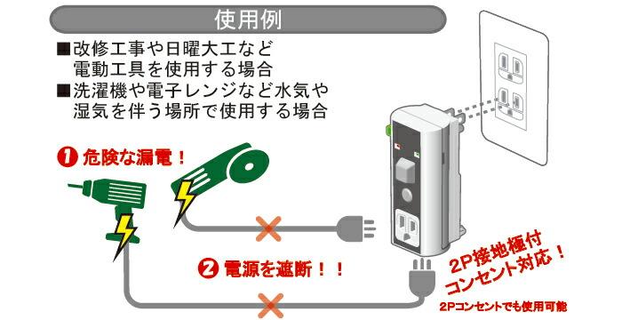 設置極付プラグ形漏電遮断器ビリビリガードPlus GB-XC / GT-XC