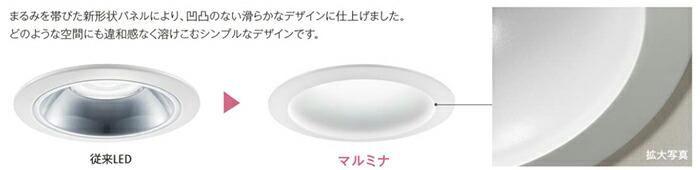 パナソニック マルミナLEDダウンライト(昼白色)