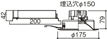 XNDN1068WNK LE9 (NDN16610K+NNK10001N LE9) パナソニック LEDダウンライト(昼白色)<ビーム角75°> 100形 埋込穴Φ150