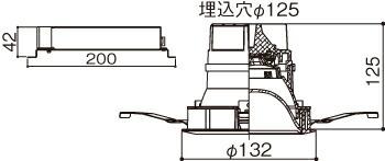 XNDN2058PN LE9 (NDN22500+NNK20001N LE9) パナソニック マルミナLEDダウンライト(昼白色)<パネル付型> 200形 埋込穴Φ125