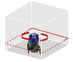 受光器対応 高輝度自動探知レーザー墨出し器 Laser Warker PLV-751T