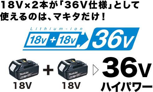 UP361DPG2 マキタ(MAKITA) 充電式せん定ハサミ 18V+18V/6.0Ah充電池2本・2口急速充電器付