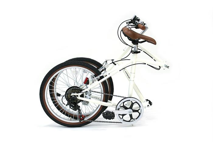 シトロエン 6段変速ギア搭載 折畳み自転車 ミニベロタイプ 20インチモデル MG-CTN206G