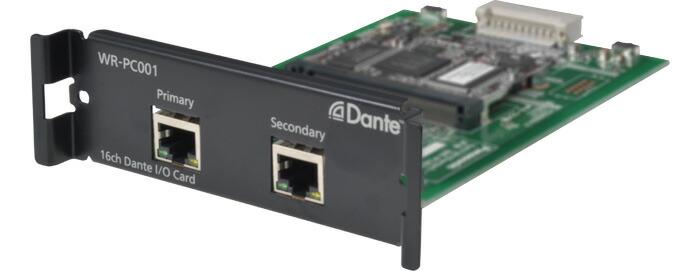パナソニック 16ch入出力Dante(TM)カード WR-PC001