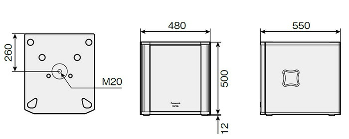パナソニック 38cm バスレフ形サブウーハー WS-HP450