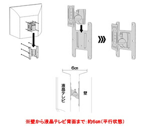 OCK-35 I.T.S. 液晶テレビ用壁掛け金具 VESA75/100対応・角度調整機能付