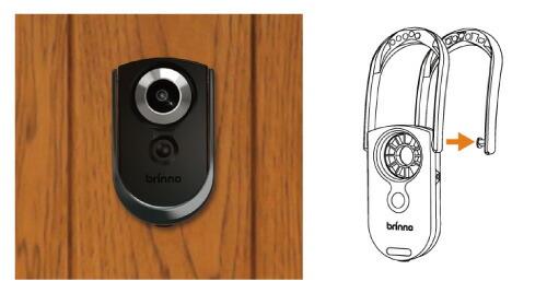 BRINNO 動きと振動を感知するダブルセンサー採用!ドアスコープカメラ SHC1000(ルスカII)