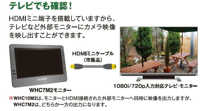 マスプロ 10インチ録画機能付タッチパネルモニター&フルハイビジョンワイヤレスカメラセット WHC10M2