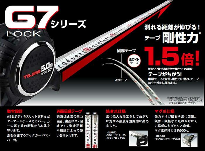 タジマ コンベックス G7ロックシリーズ