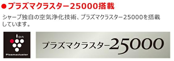 プラズマクラスター25000搭載