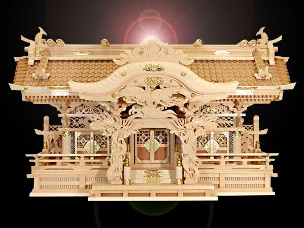 高級神棚切妻三社オリジナル高級神殿【天風】