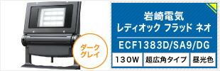 岩崎電気  レディオック フラッド ネオ ECF1383D/SA9/DG 昼光色タイプ 130W 超広角タイプ ダークグレイ
