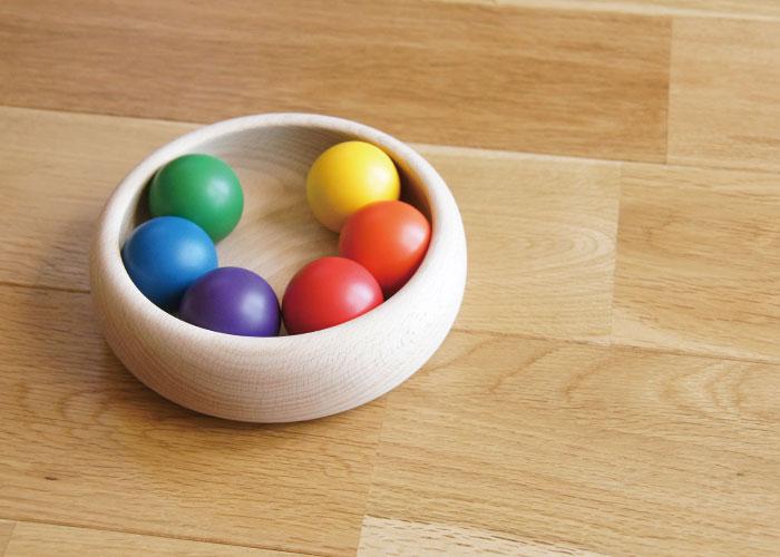 童具館 和久洋三 デザイン カラーボール 国産 知育玩具 安心安全