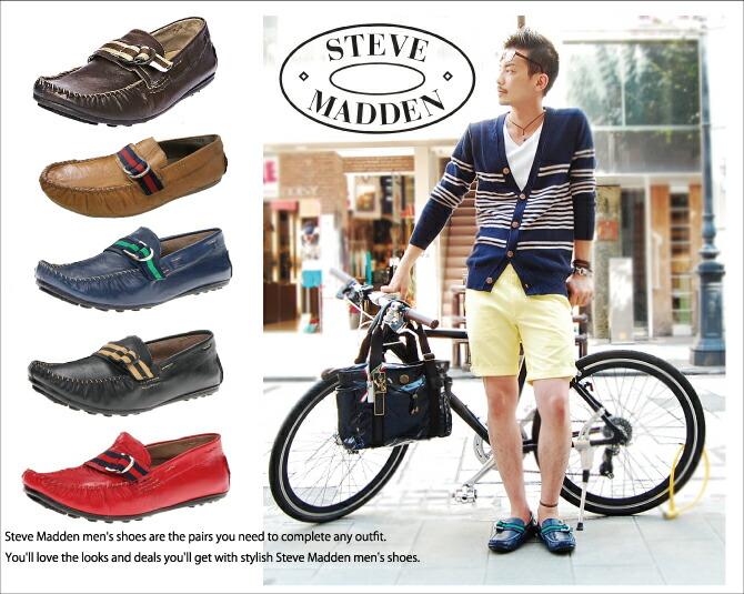 4ce0242d1c8 Steve Madden Steve Ma den KOLTT driving shoes genuine leather men sandals  boots shoes suede Italy