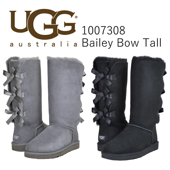 4ae3f0752fc Ugg boots Womens Sheepskin boots knee high boots long Mouton boots UGG  Bailey Bow Tall 1007308