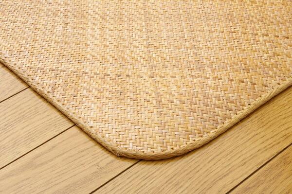 籐あじろ織り 宝麗(I) カーペット インドネシア製 本間三畳 3畳 3帖 191×286cm