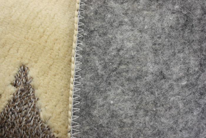 洗濯機で丸洗い可能カーペット 花柄カーペット ベージュ フォーリア(K)