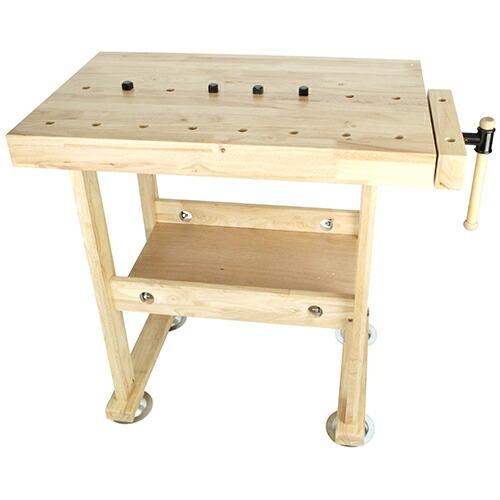 SK11・木製作業台・WKB-800・作業工具・クランプ・バイス・作業台・DIYツールの画像