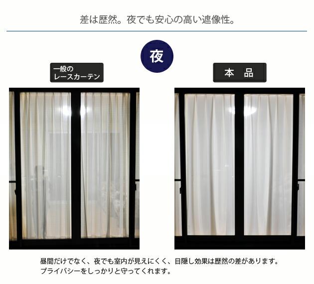 通常のカーテンと本品サラクールカーテンの比較