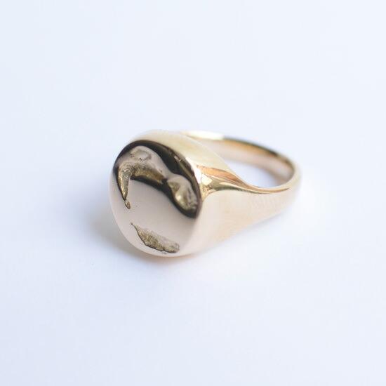 PEARLS BEFORE SWINE】パールズビフォースワイン シグネットリング 14k 指輪