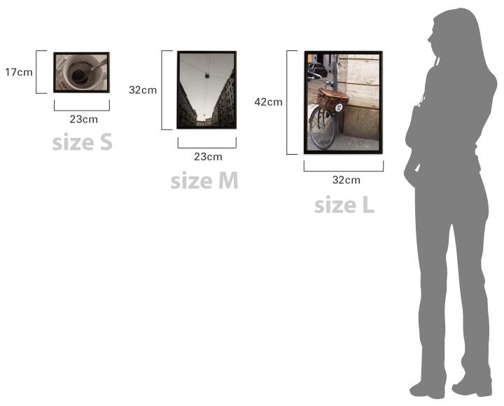デザイン照明のdi classe ディクラッセ  インテリアのためのアート Art by Domei 商品のサイズ