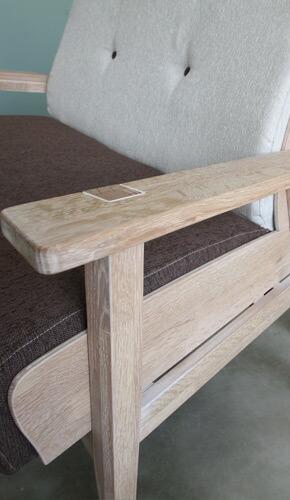 Whisky oak sofa