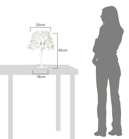フォレスティテーブルランプの大きさ