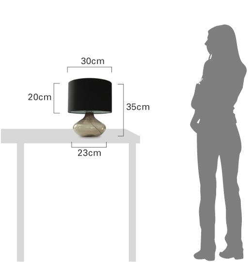 アクアテーブルランプの大きさ