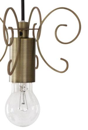 Firenze pendant lamp antique gold