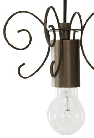Firenze pendant lamp antique brown